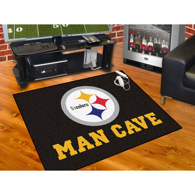 Fanmats Nfl Pittsburgh Steelers Man Cave All Star Mat
