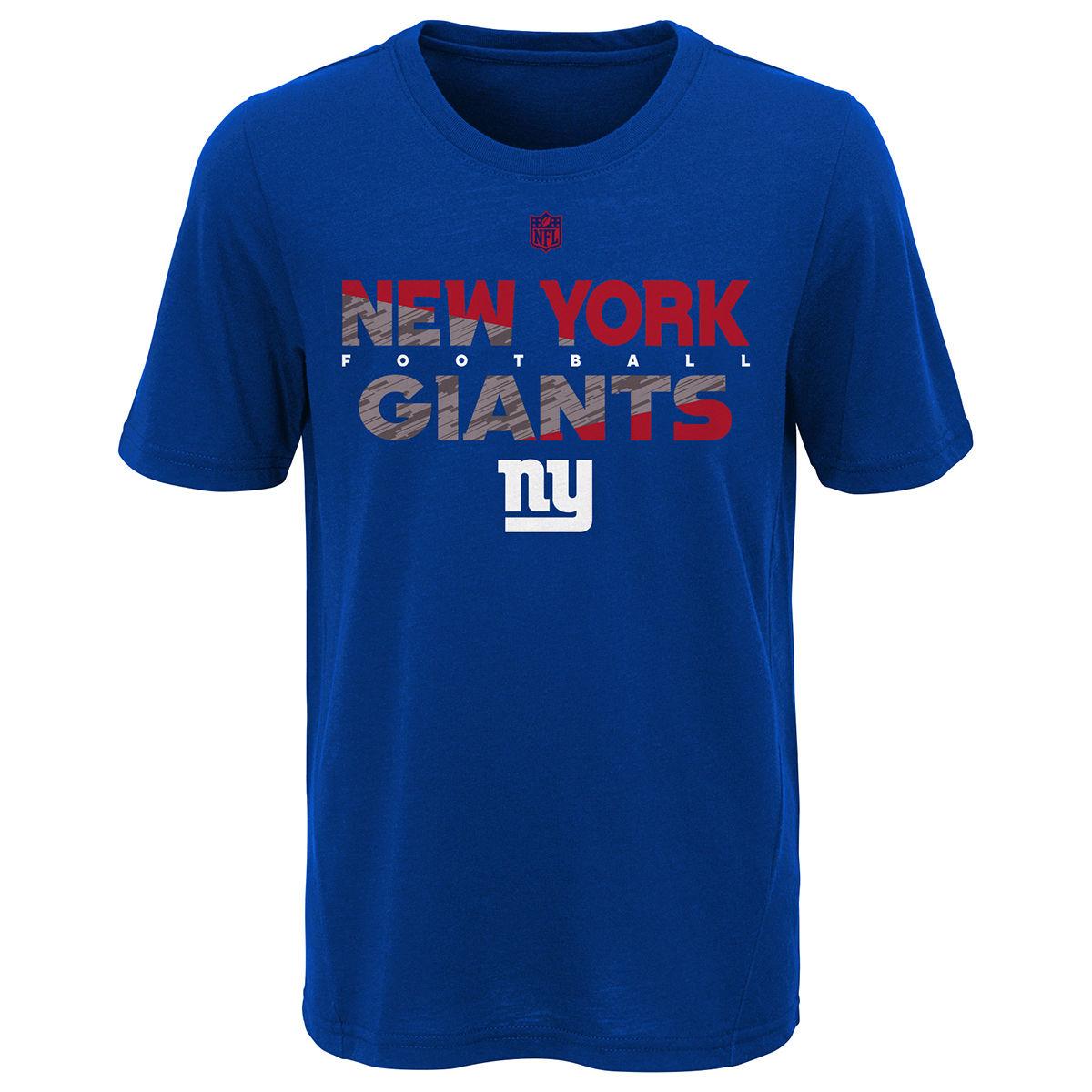 New York Giants Big Boys' Flux Dual Blend Short-Sleeve Tee - Blue, XL