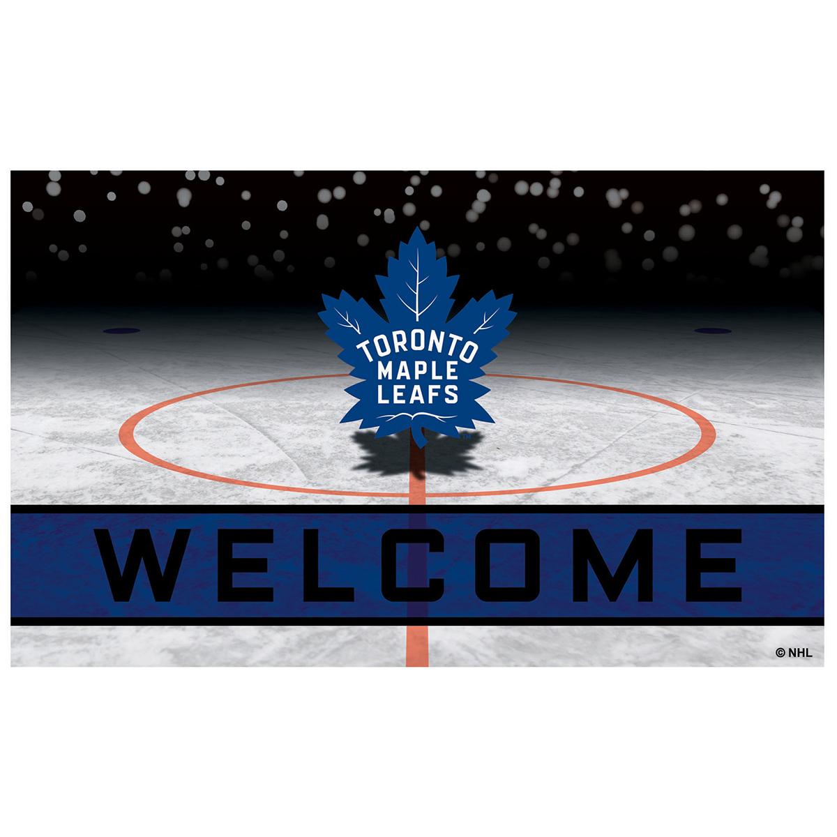 Fanmats Nhl Toronto Maple Leafs Rubber Door Mat