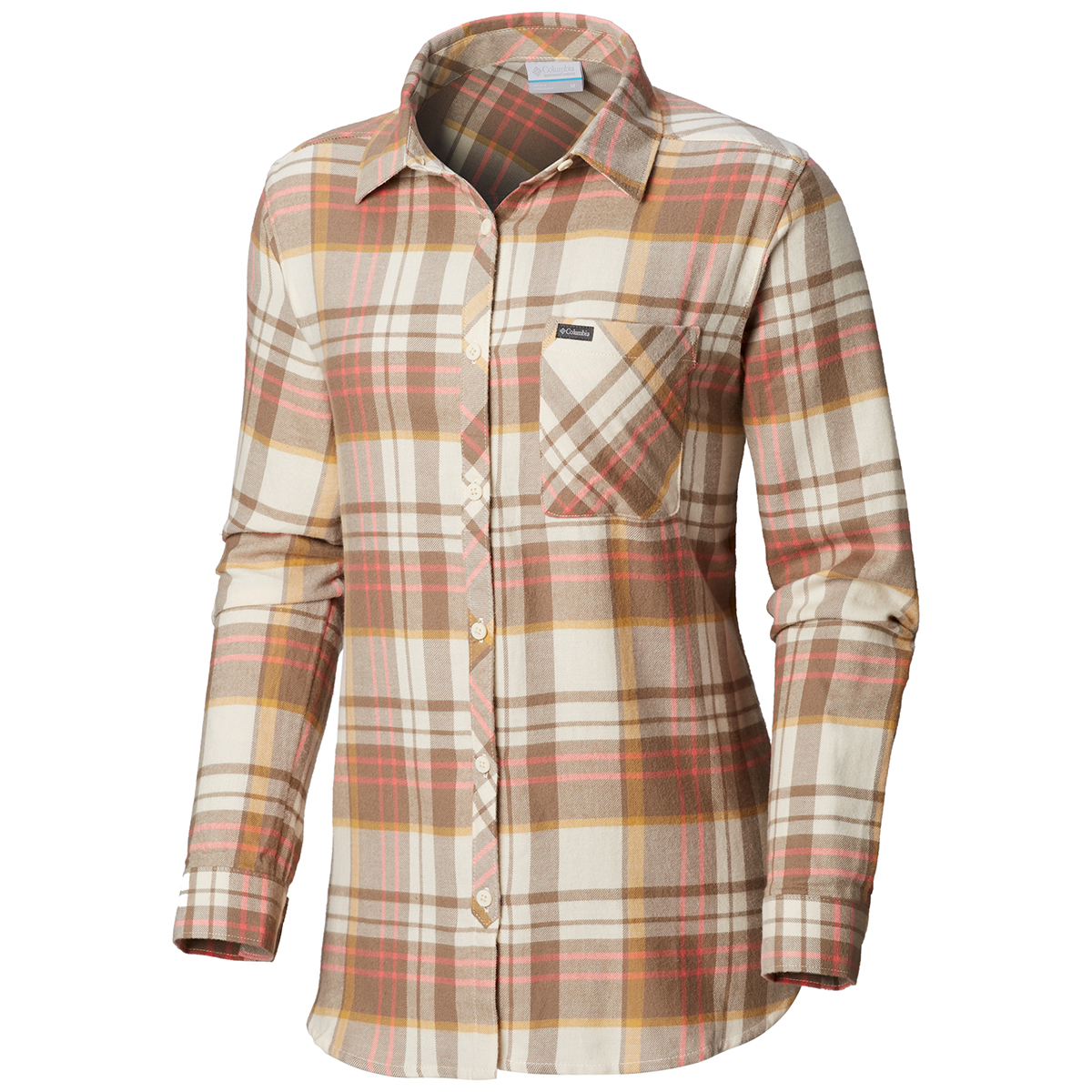Columbia Women's Simply Put Ii Long-Sleeve Flannel Shirt - Brown, S