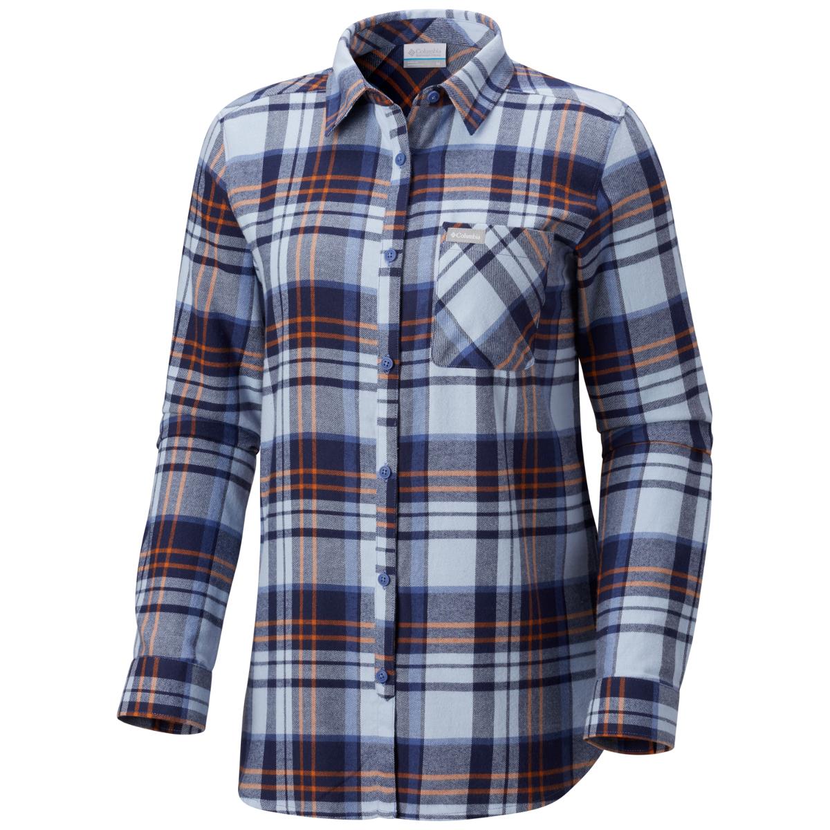 Columbia Women's Simply Put Ii Long-Sleeve Flannel Shirt - Blue, XL