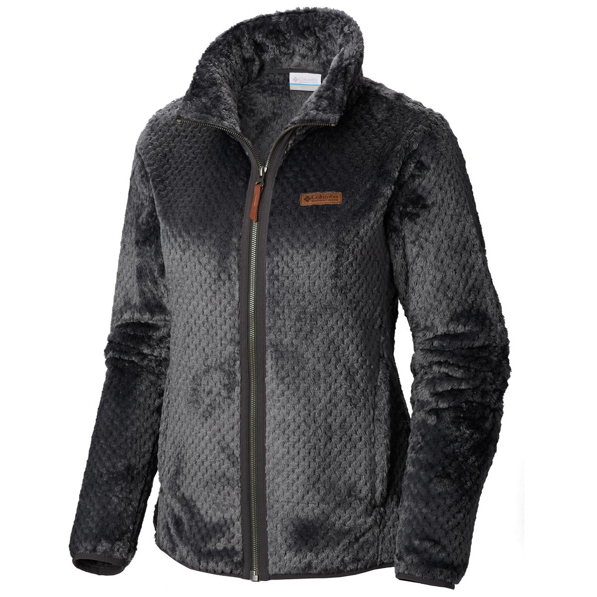 Columbia Women's Fire Side Ii Sherpa Full Zip Fleece Jacket - Black, XL