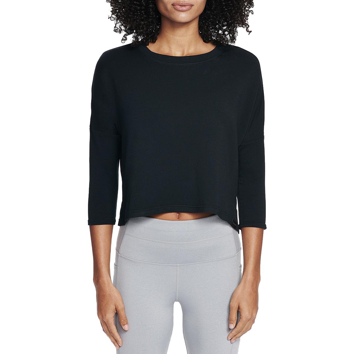 Skechers Women's Day Off A 3/4-Sleeve Top - Black, M