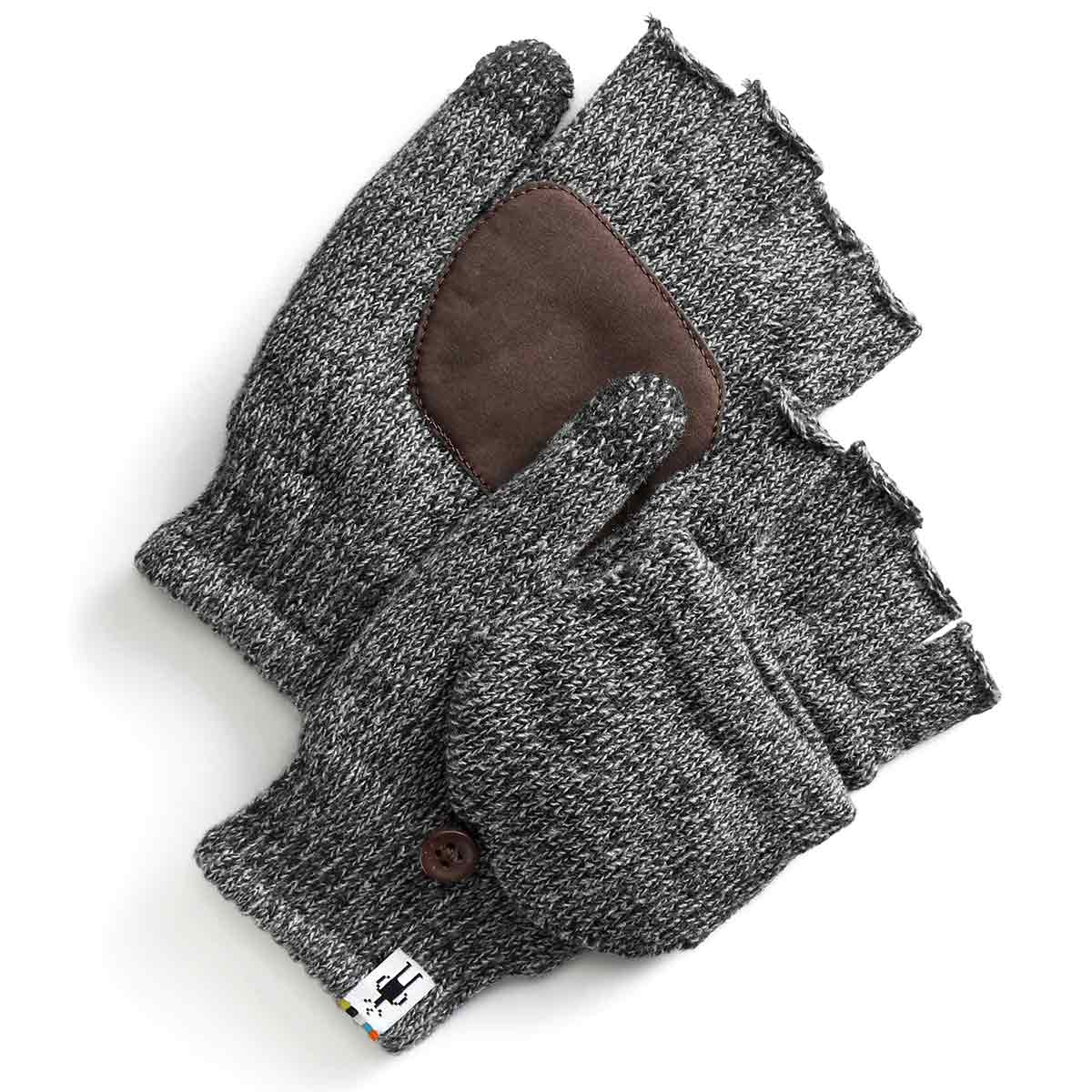 Smartwool Men's Cozy Grip Flip Mitts - Black, L/XL