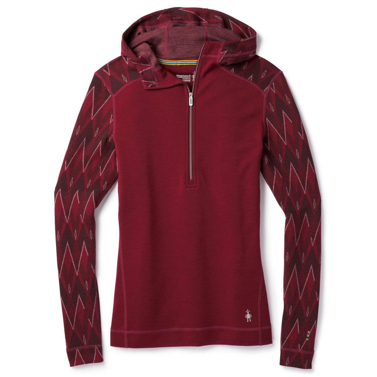 Smartwool Women's Merino 250 Half Zip Hoodie Base Layer - Red, XL