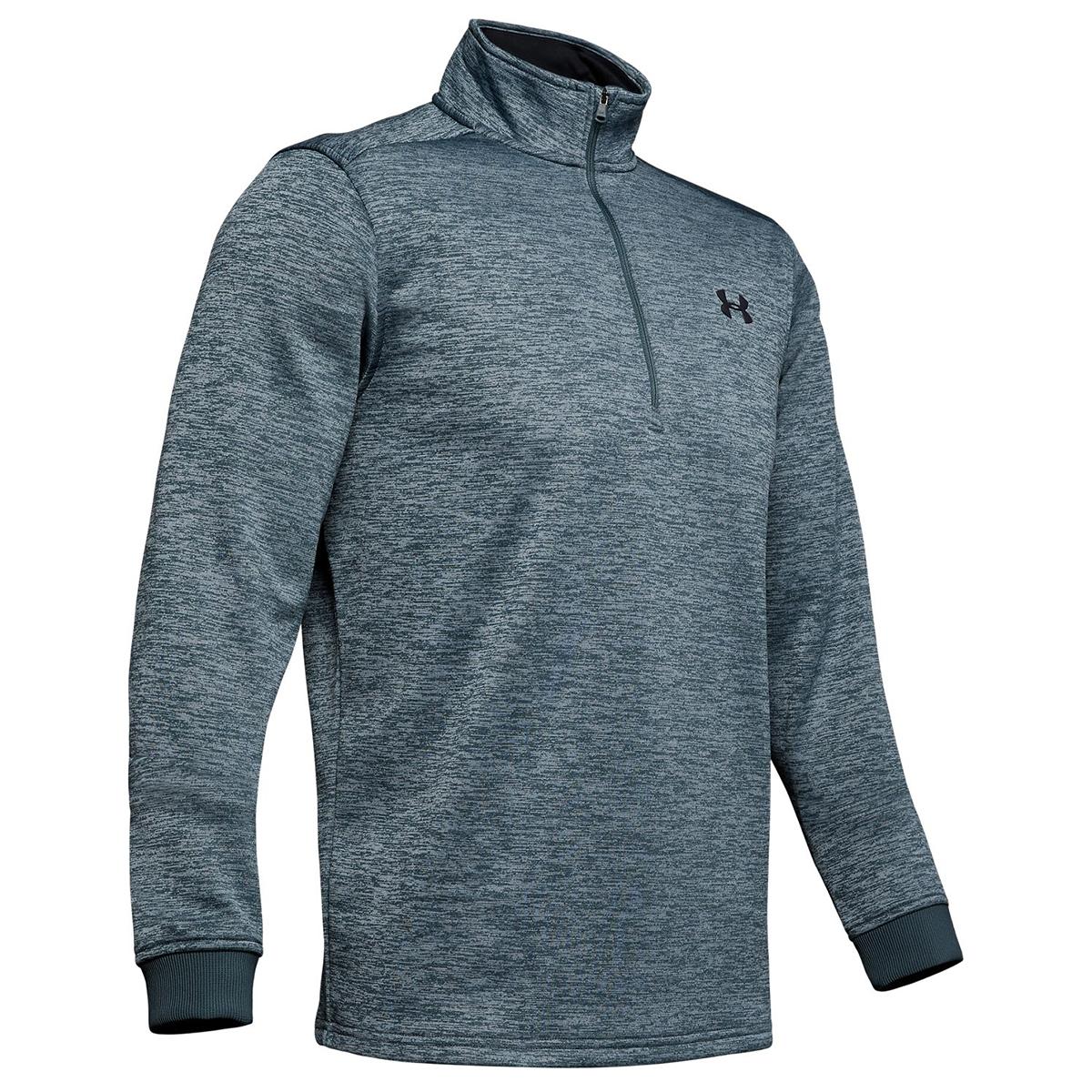 Under Armour Men's Armour Fleece Half Zip Pullover - Black, XL