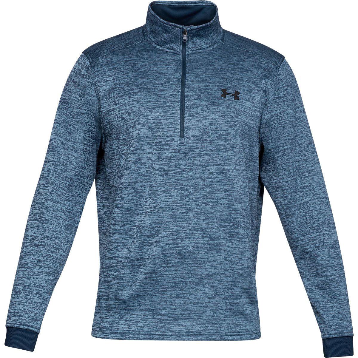 Under Armour Men's Armour Fleece Half Zip Pullover - Blue, L