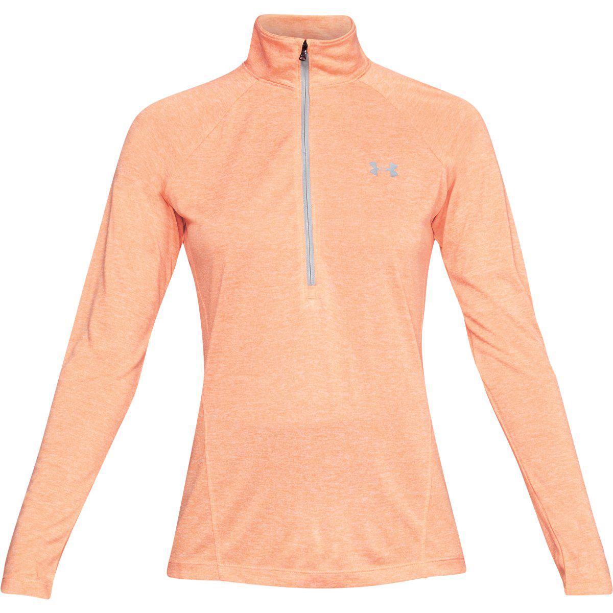 Under Armour Women's Ua Tech Twist Half Zip Pullover - Orange, S