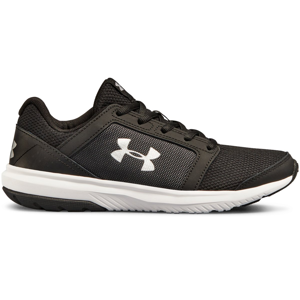 Under Armour Big Boys' Grade School Unlimited Running Shoes - Black, 6