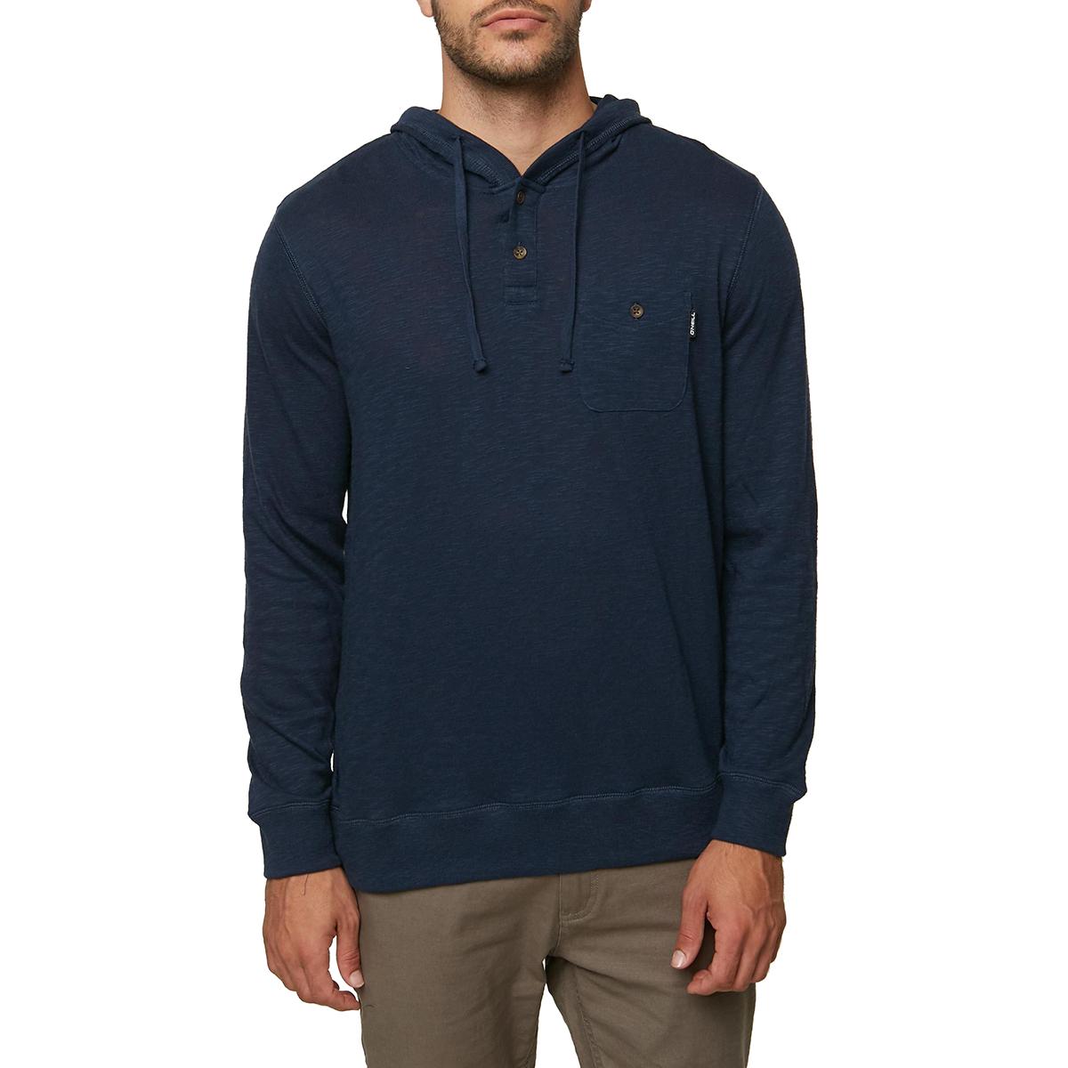 O'neill Guys' Stinson Henley Pullover Hoodie - Blue, M