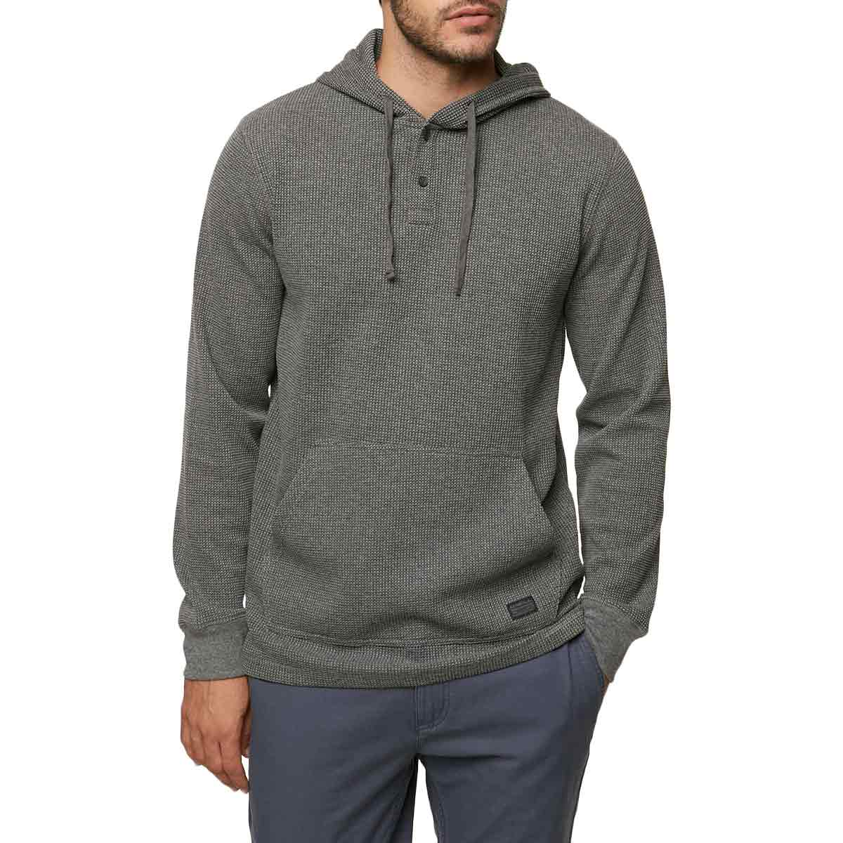 ONeill Guys Olympia Henley Hooded Pullover - Black, XL