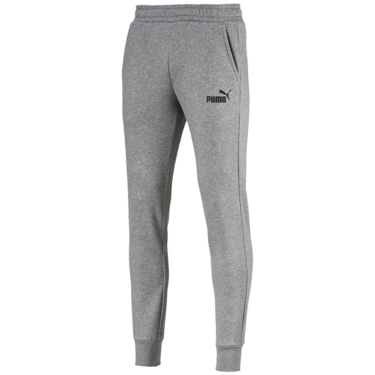 Puma Men's Essentials Fleece Jogger Pants - Black, XXL
