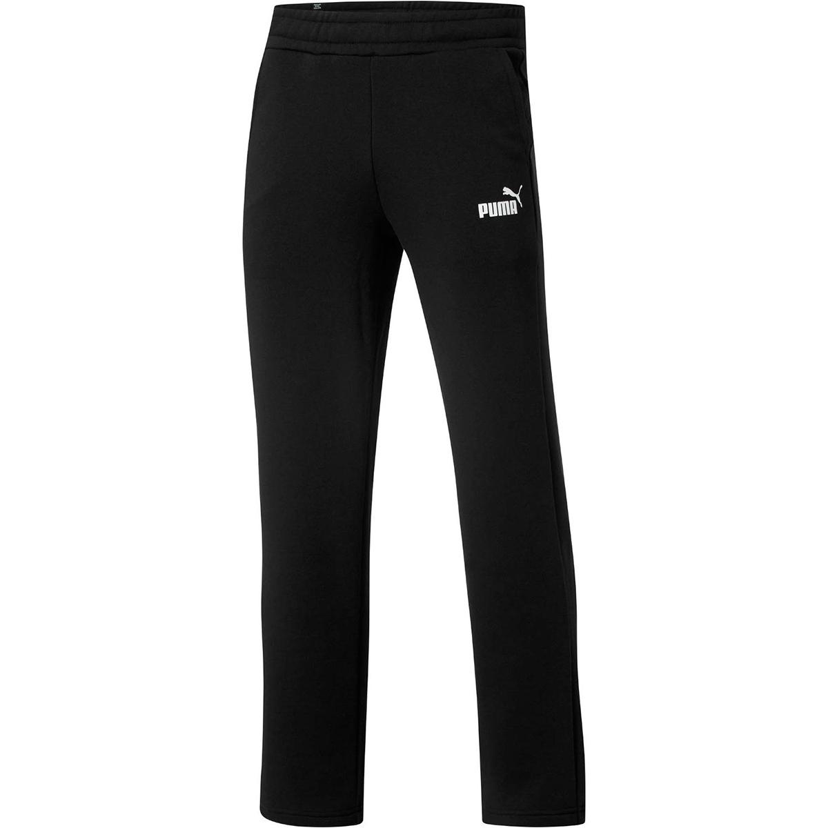 Puma Men's Essential Logo Open-Hem Pants - Black, XXL