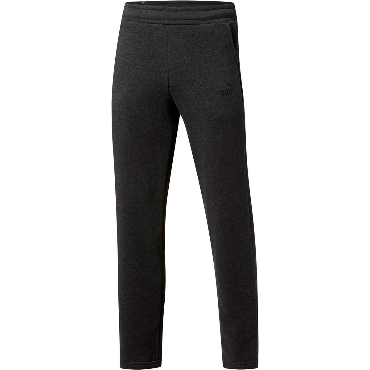 Puma Men's Essential Logo Open-Hem Pants - Black, L