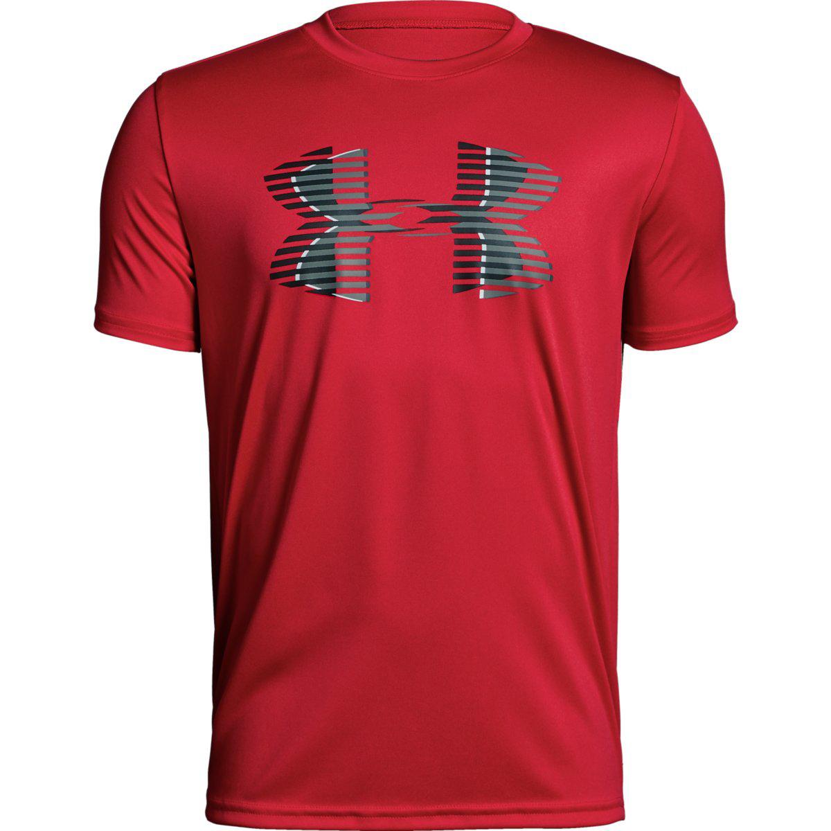Under Armour Big Boys' Ua Tech Big Logo Solid Short-Sleeve Tee - Red, M