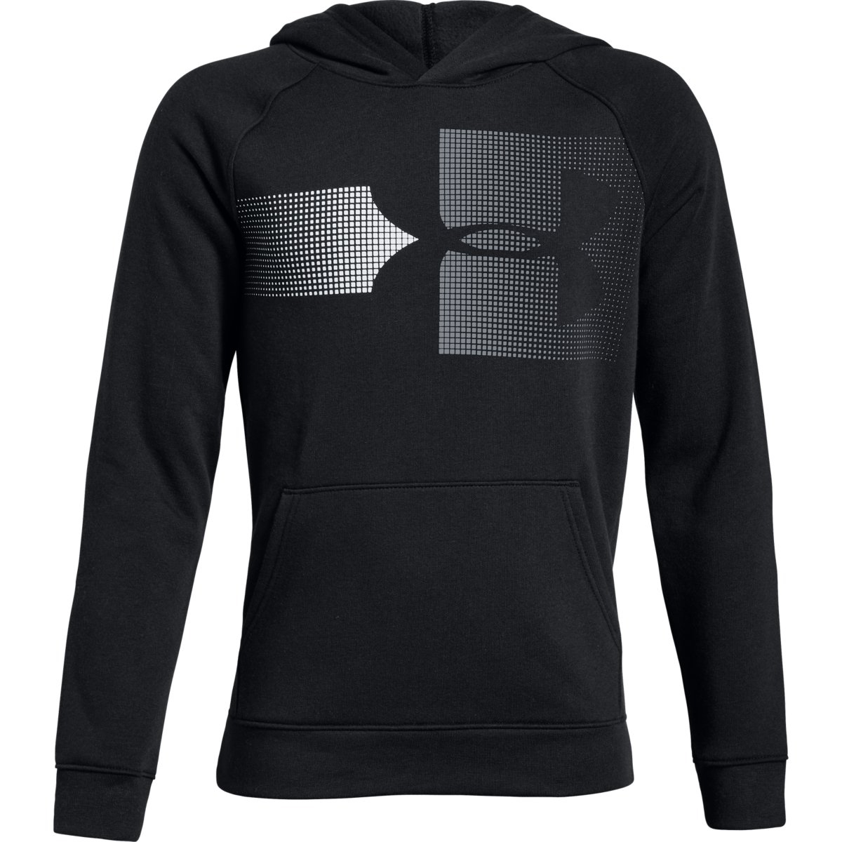 Under Armour Big Boys' Ua Rival Logo Pullover Hoodie - Black, M