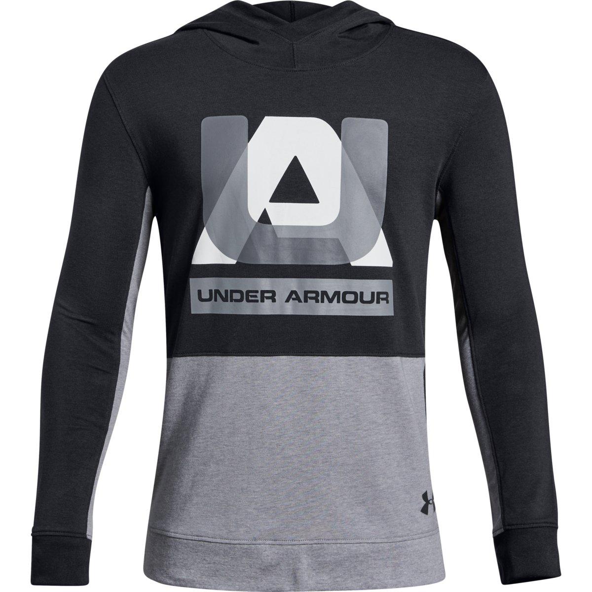 Under Armour Big Boys' Ua Sportstyle Pullover Hoodie - Black, M