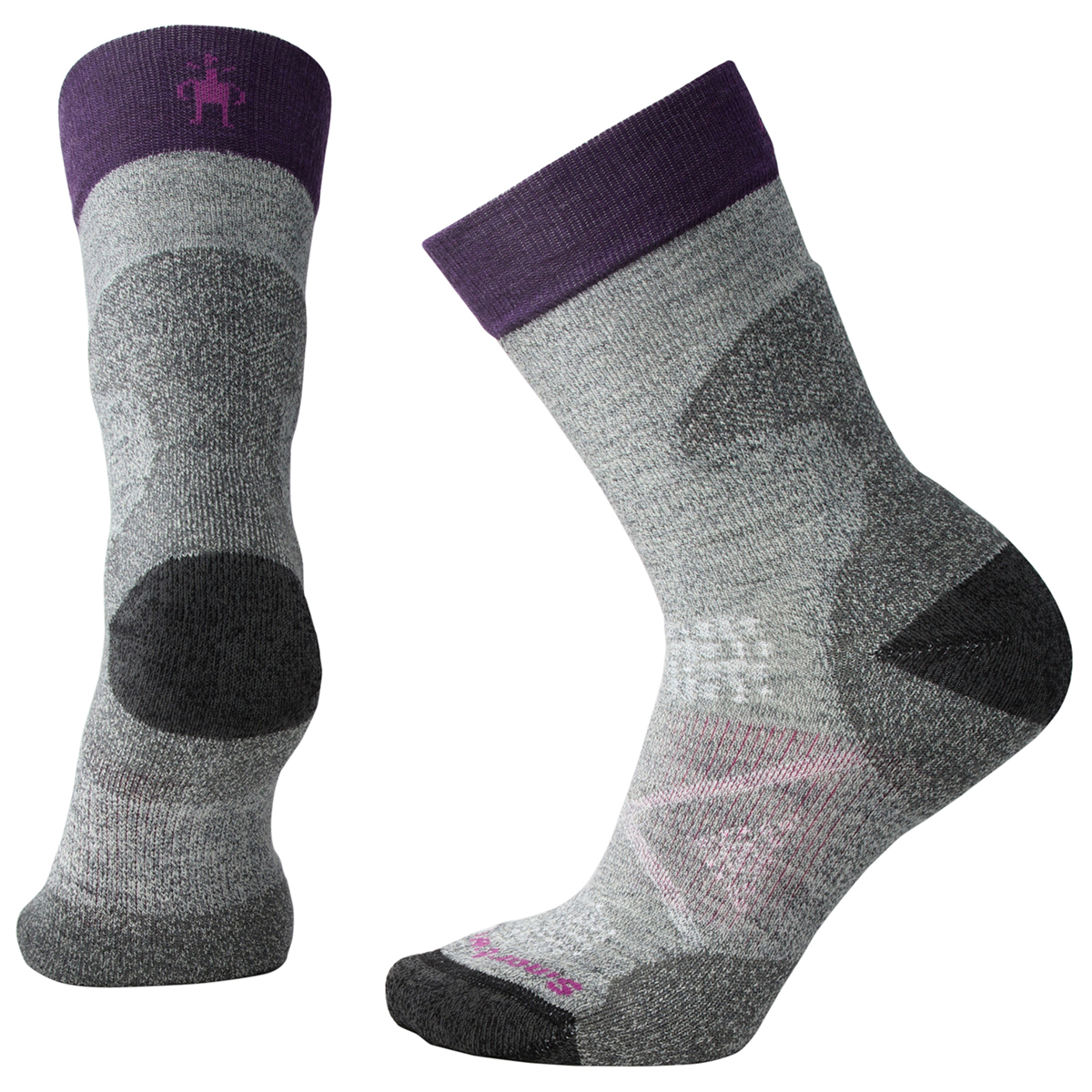 Smartwool Women's Phd Pro Light Crew Socks - Black, L