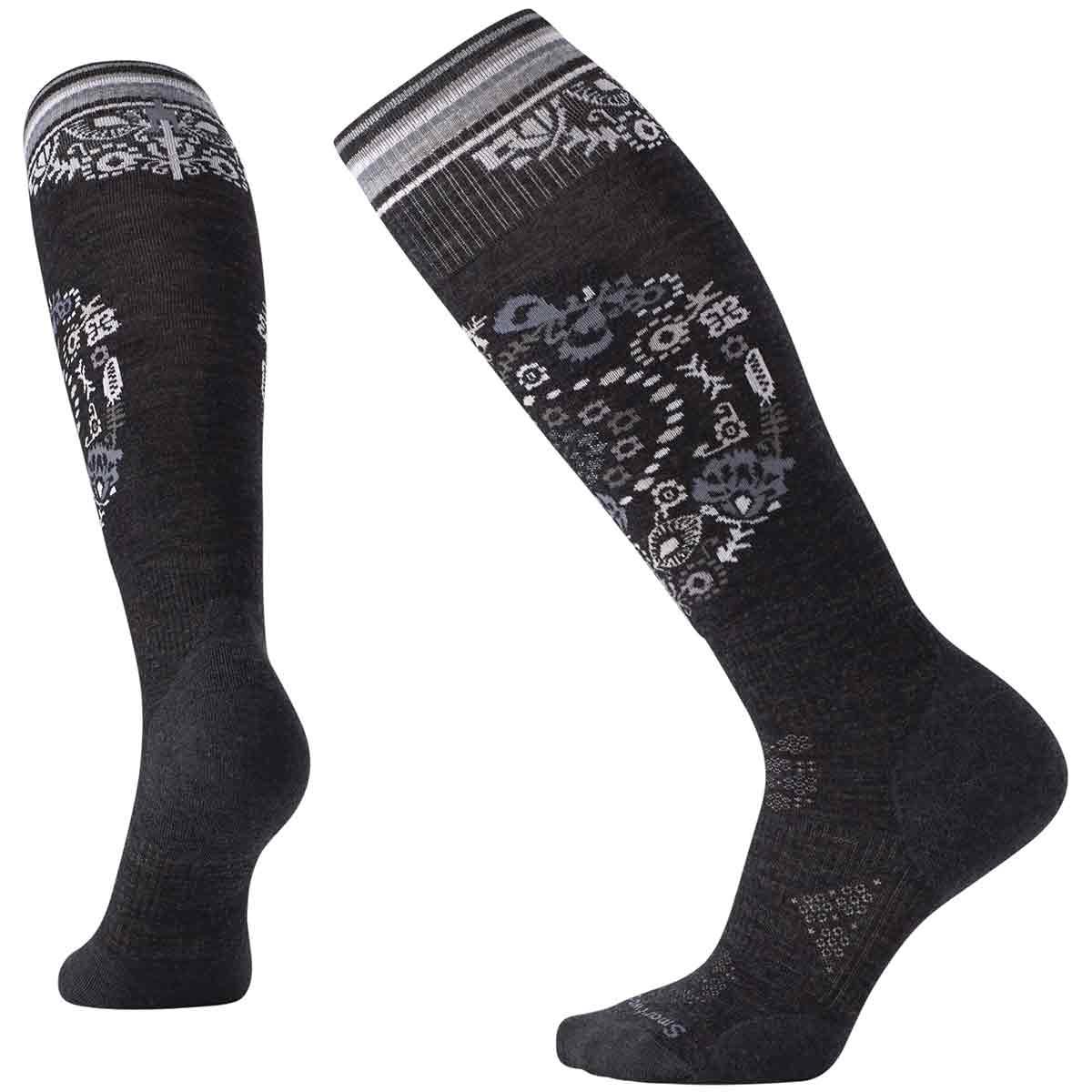 Smartwool Women's Phd Ski Light Elite Pattern Socks - Black, M
