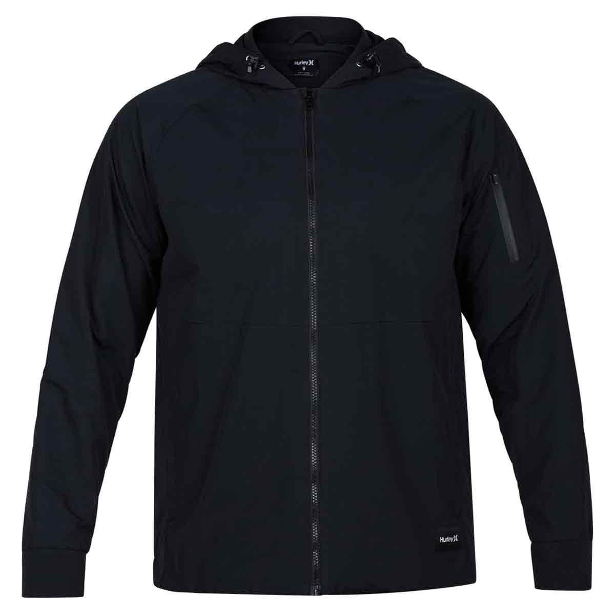 Hurley Guys' Garrison Hooded Jacket - Black, M