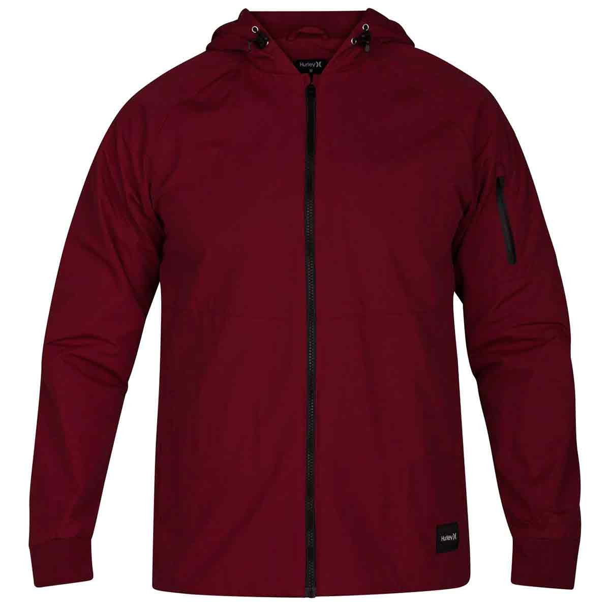 Hurley Guys' Garrison Hooded Jacket - Red, M