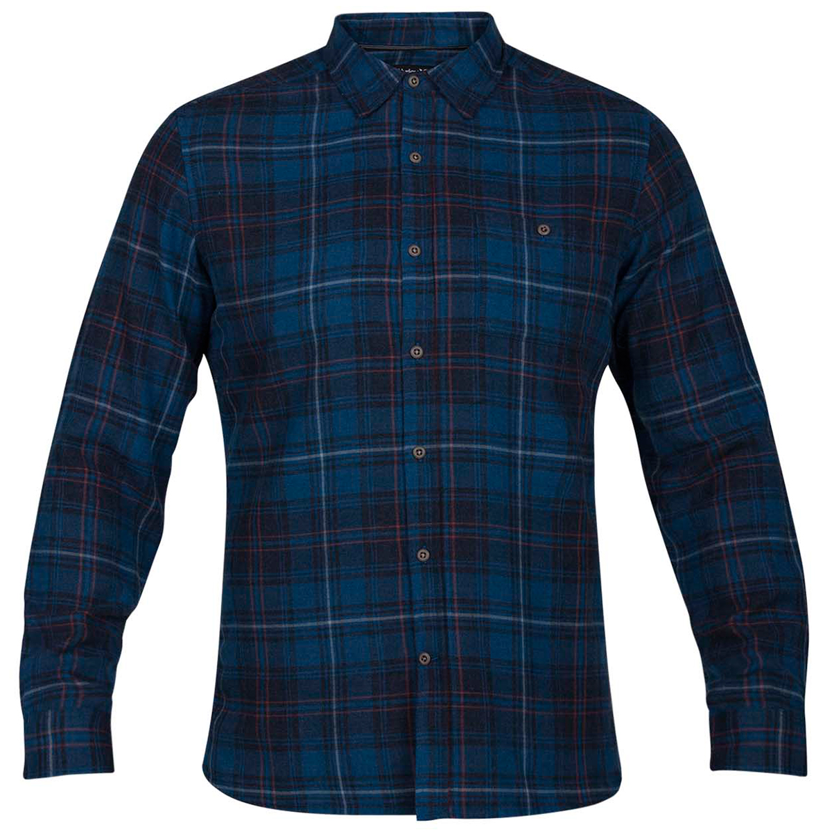 Hurley Guys' Kurt Long-Sleeve Shirt - Blue, L