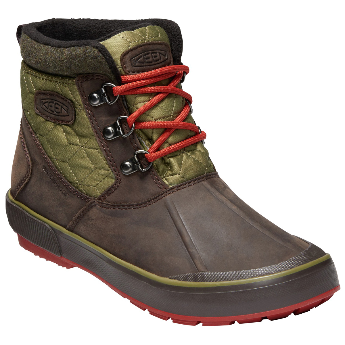Keen Women's Elsa Ii Quilted Waterproof Insulated Ankle Boots - Brown, 8