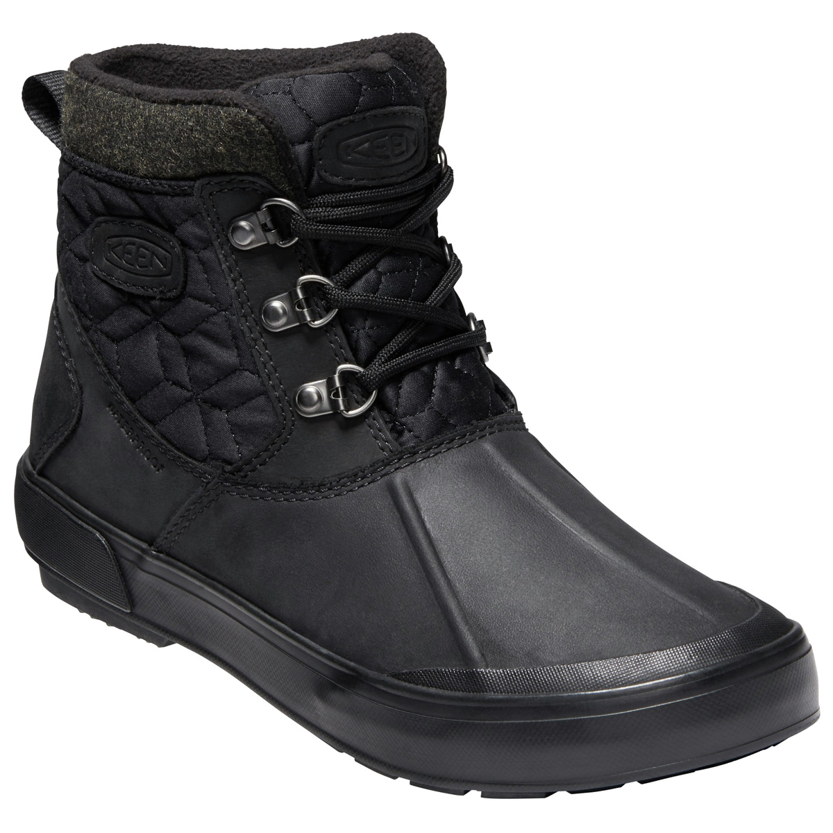 Keen Women's Elsa Ii Quilted Waterproof Insulated Ankle Boots - Black, 8.5