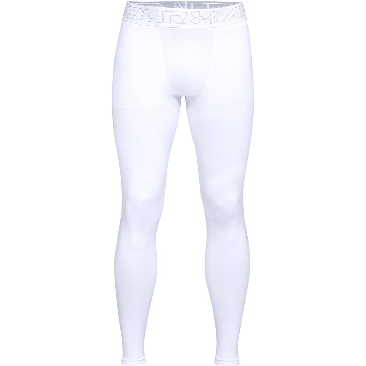 Under Armour Men's Coldgear Leggings - White, S