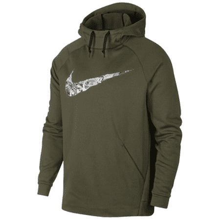 Nike Men's Therma Collage Logo Athletic Pullover Hoodie - Green, M