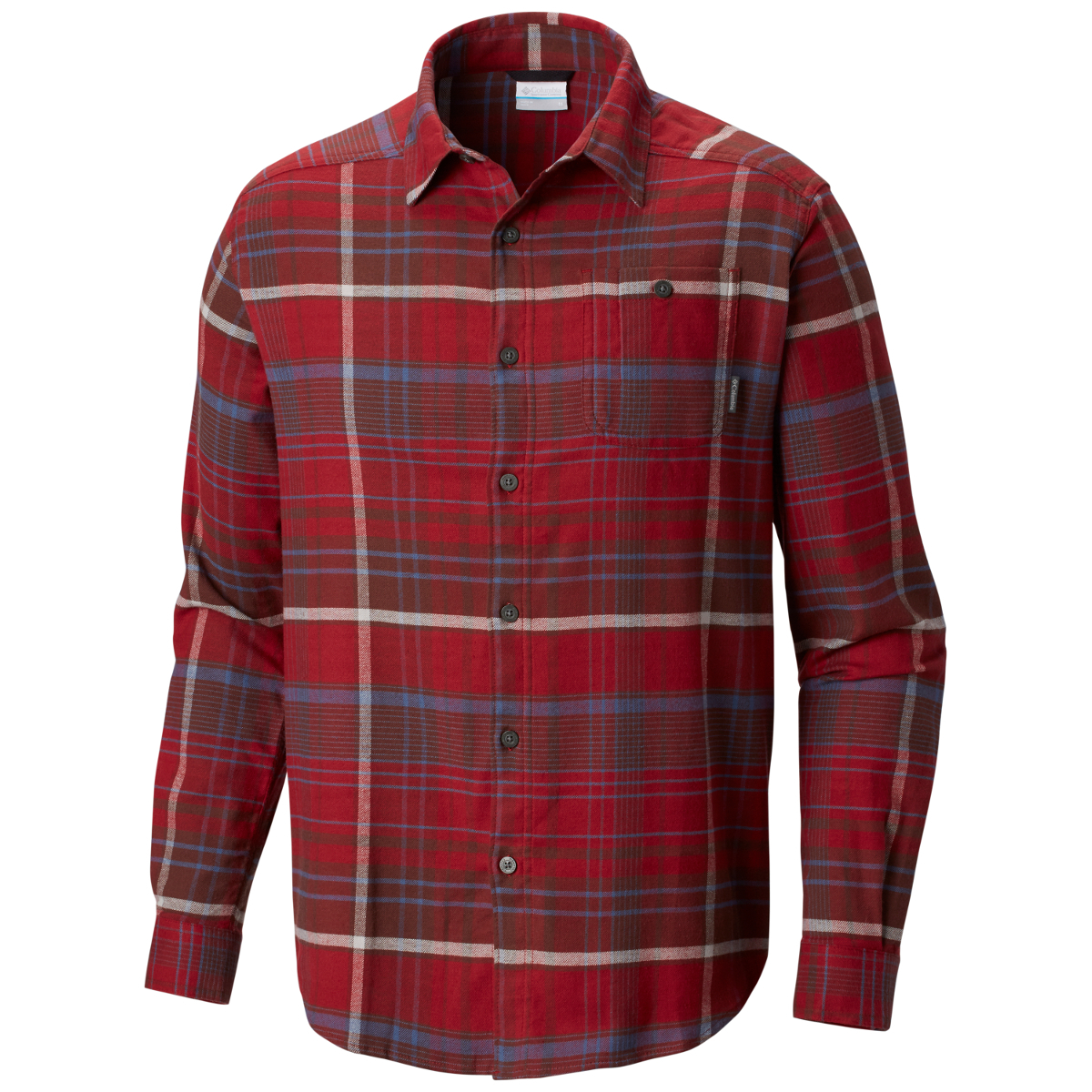 Columbia Men's Cornell Woods Flannel Long-Sleeve Shirt - Red, XL