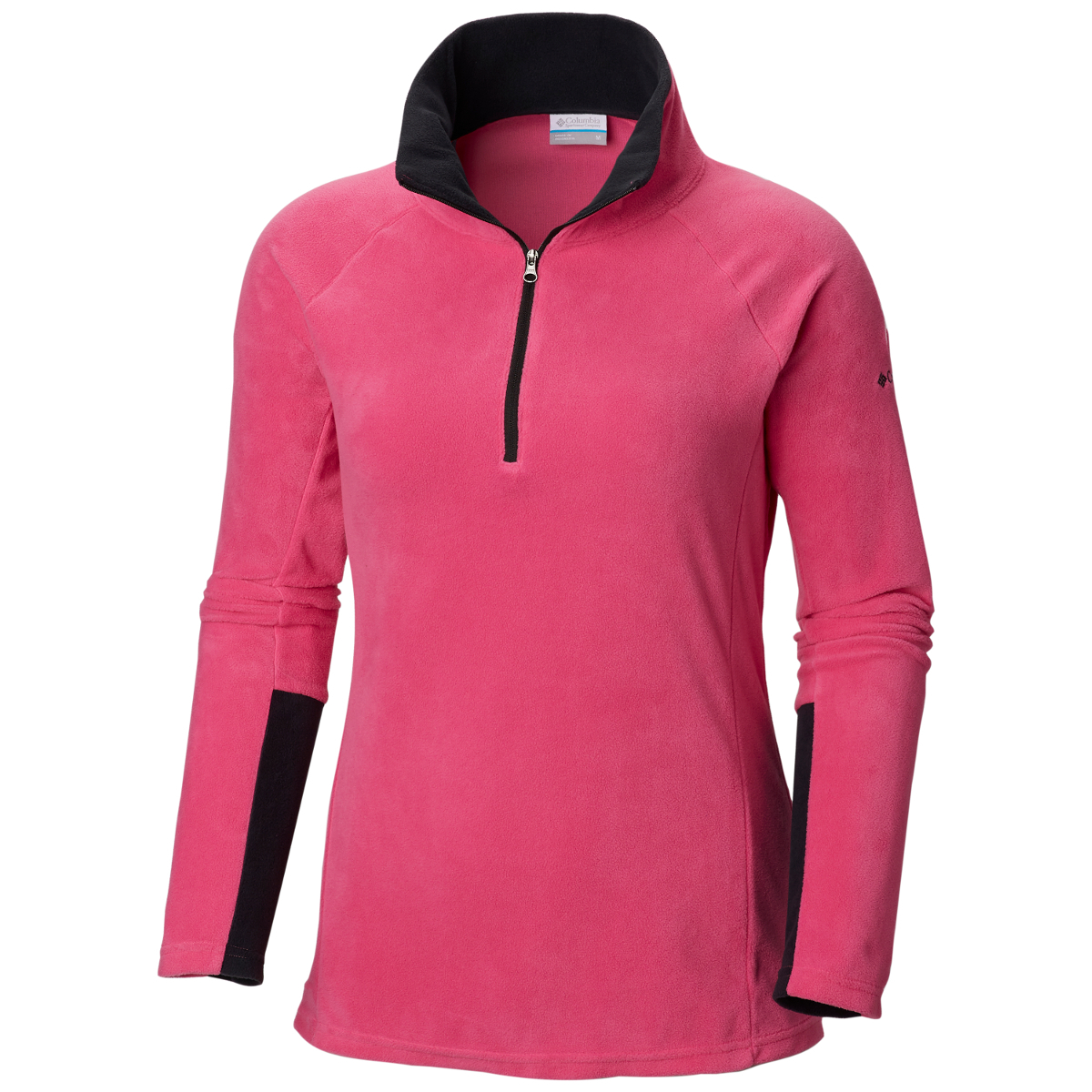 Columbia Women's Tested Tough In Pink Half Zip Pullover - Red, L