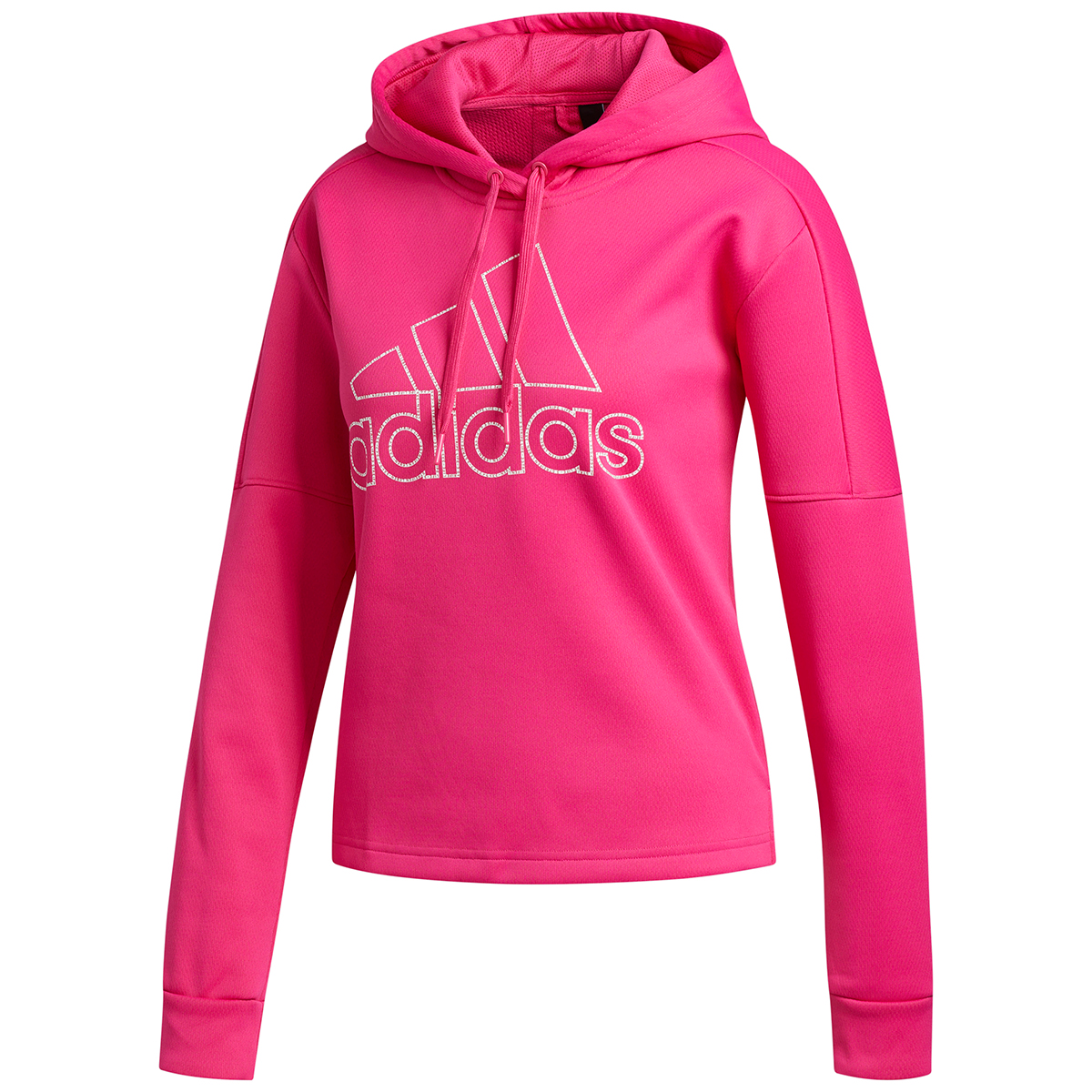 Adidas Women's Team Issue Badge Of Sport Pullover Hoodie - Red, M