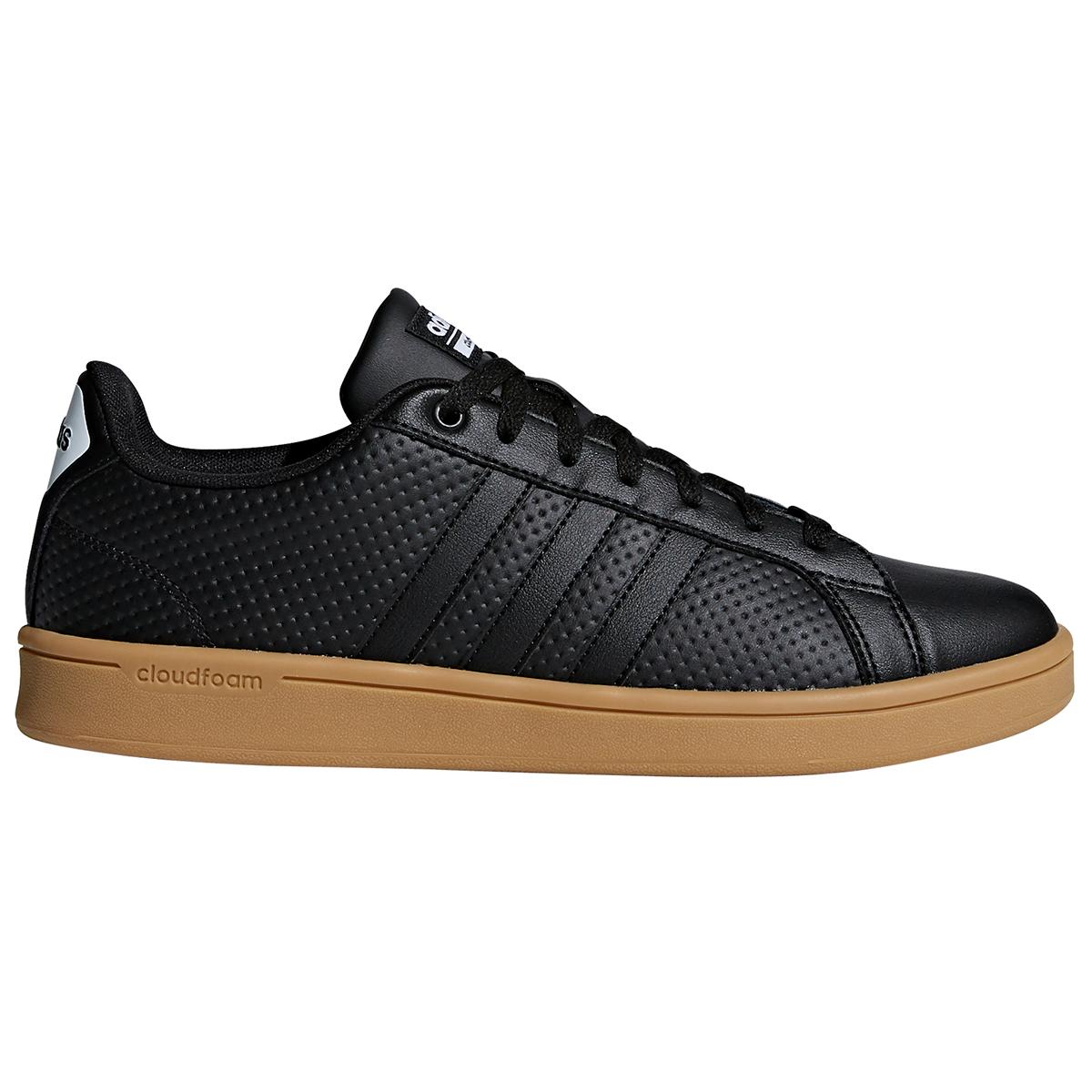 Adidas Men's Cloudfoam Advantage Skate Shoes - Black, 10
