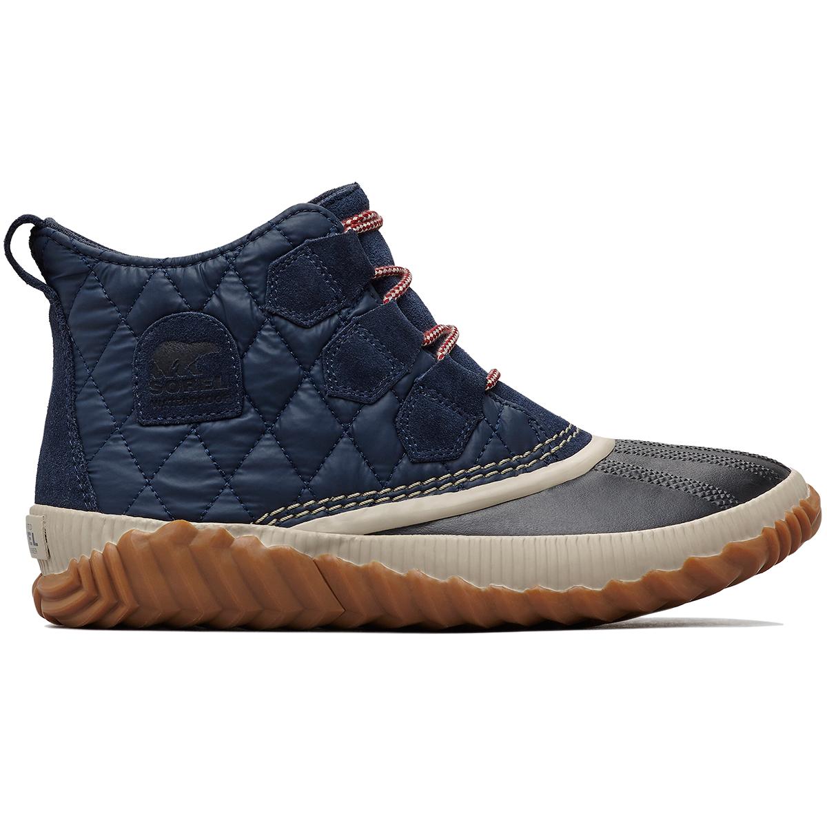 Sorel Women's Out 'n About Plus Waterproof Duck Boots - Blue, 7.5