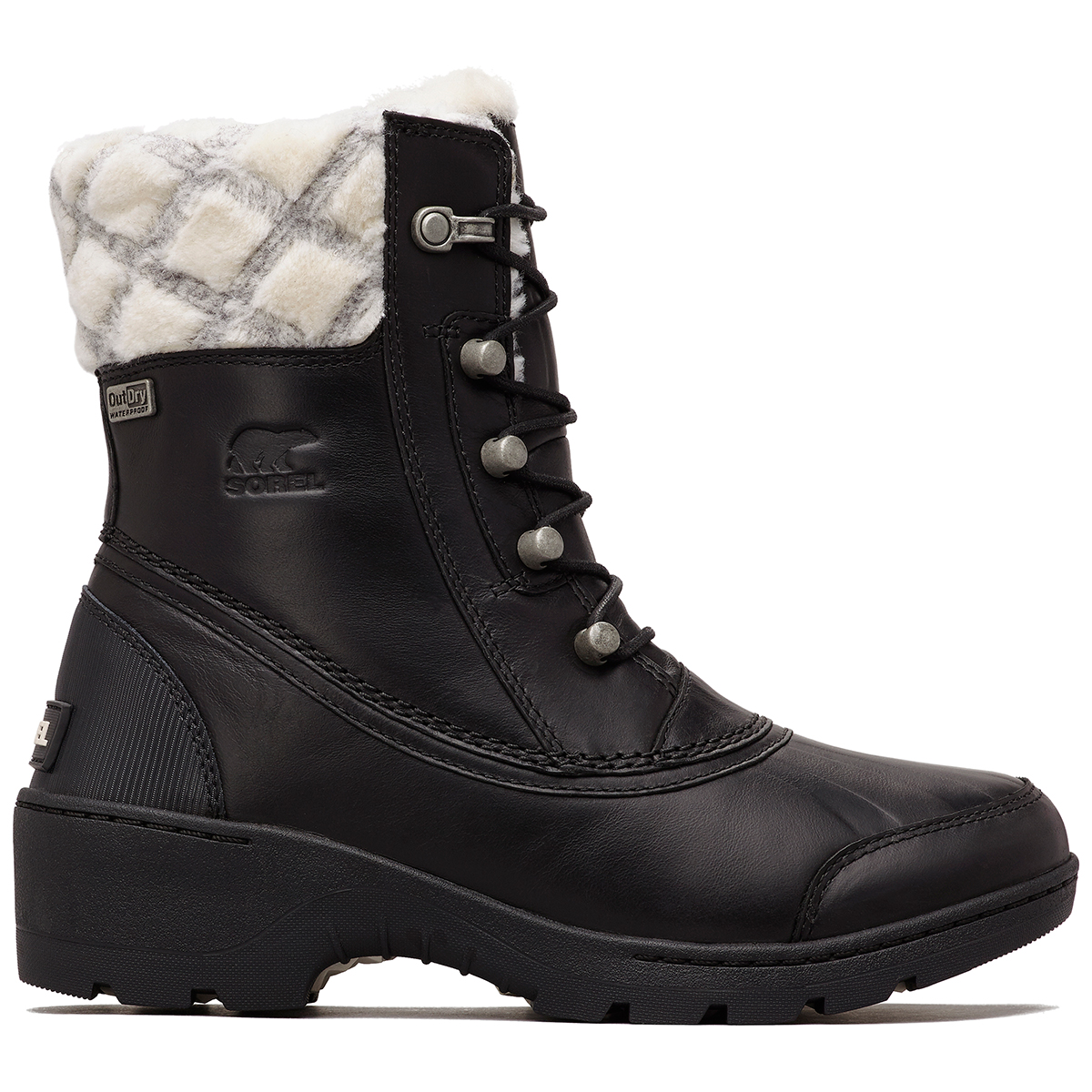 Sorel Women's Whistler Mid Waterproof Insulated Storm Boots - Black, 8.5