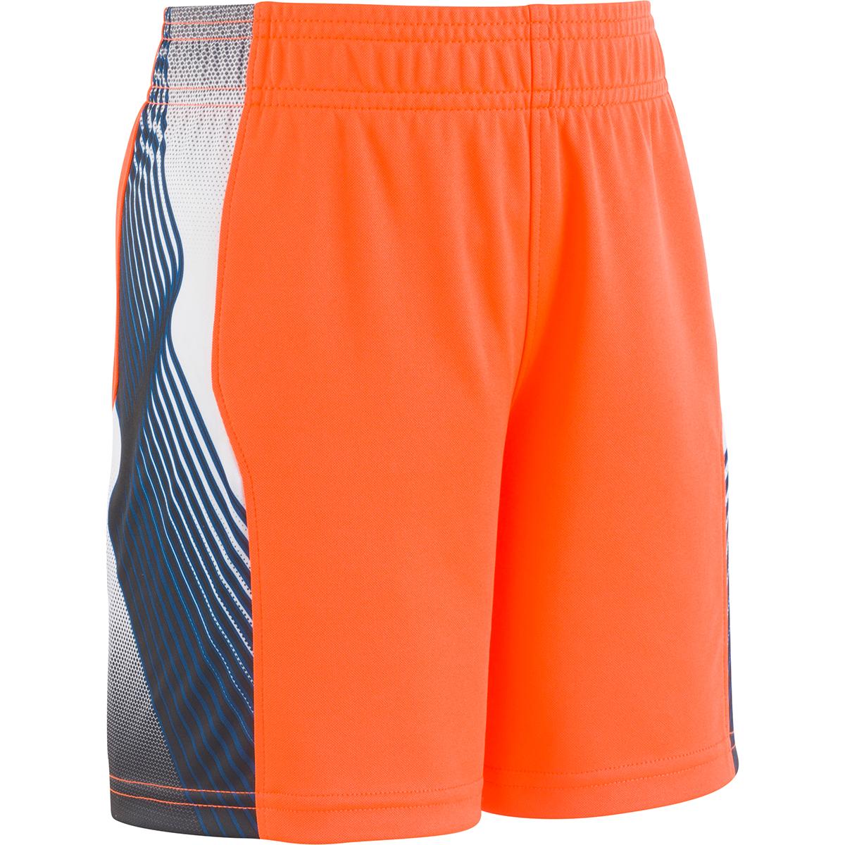 Under Armour Little Boys' Ua Space The Floor Basketball Shorts - Orange, 5
