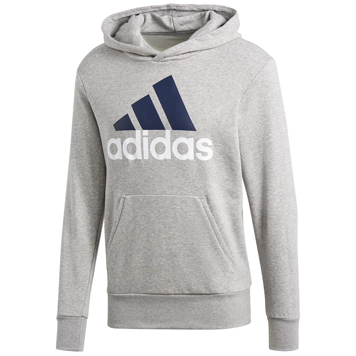 Adidas Men's Essentials Linear Pullover Hoodie - Black, XL