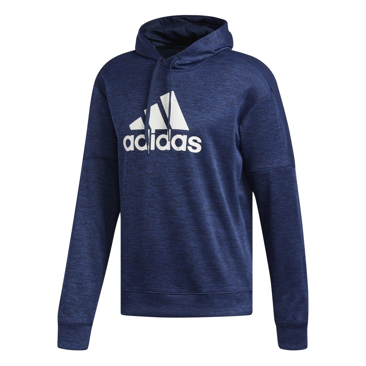 Adidas Men's Team Issue Badge Of Sport Pullover Hoodie - Blue, XXL