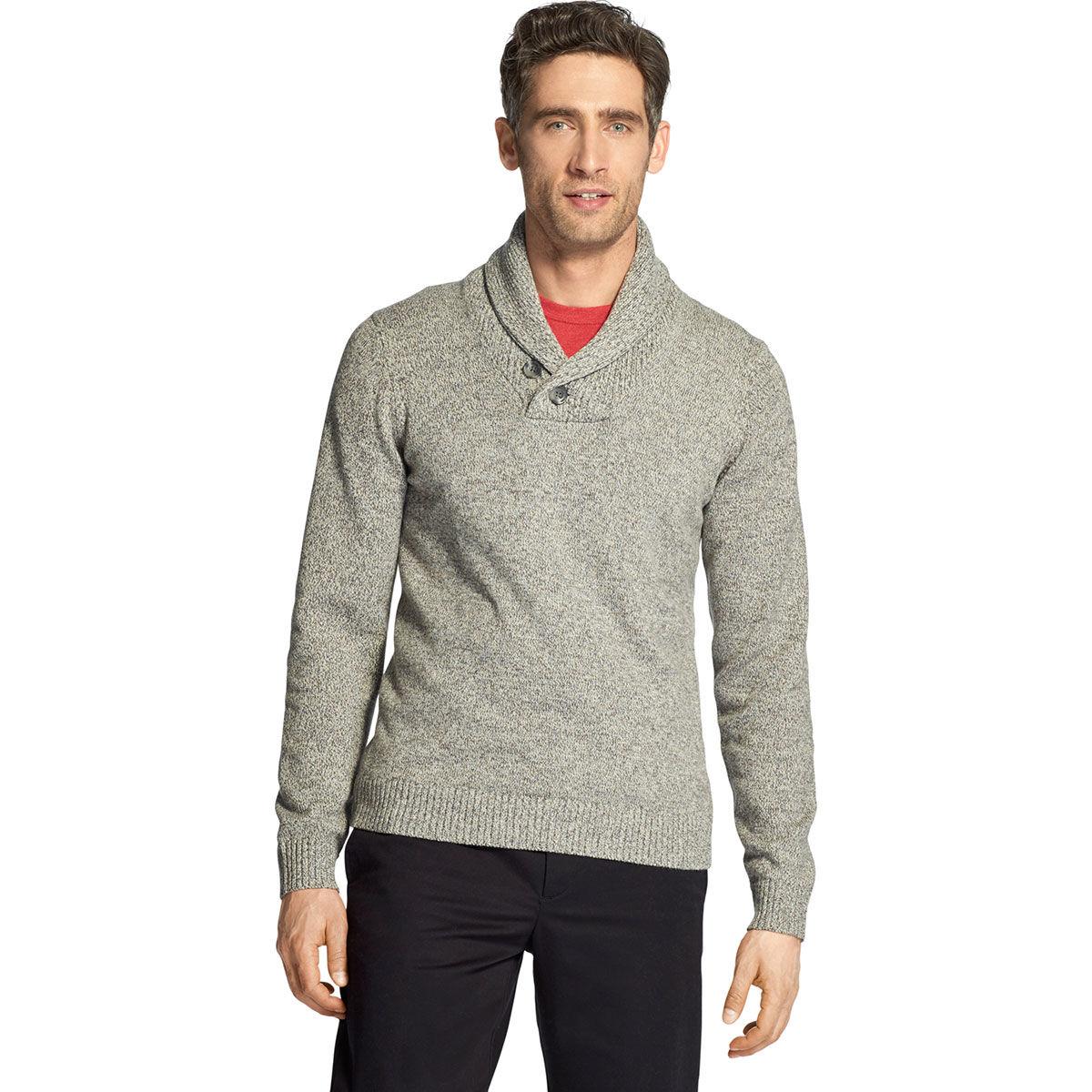 Izod Men's Premium Essentials Shawl Collar Sweater - Black, M