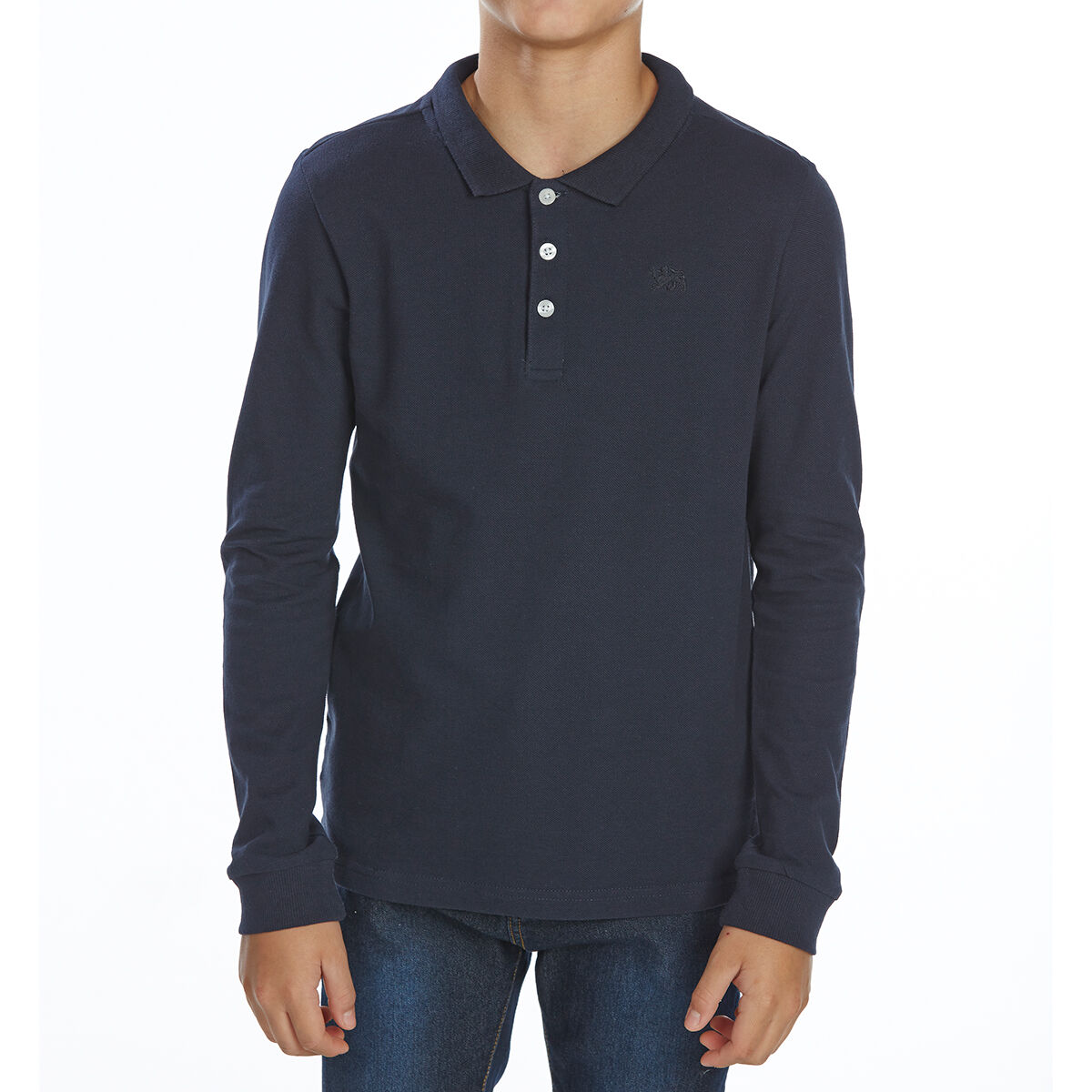 Minoti Big Boys' Long-Sleeve Polo Shirt - Blue, 12/13