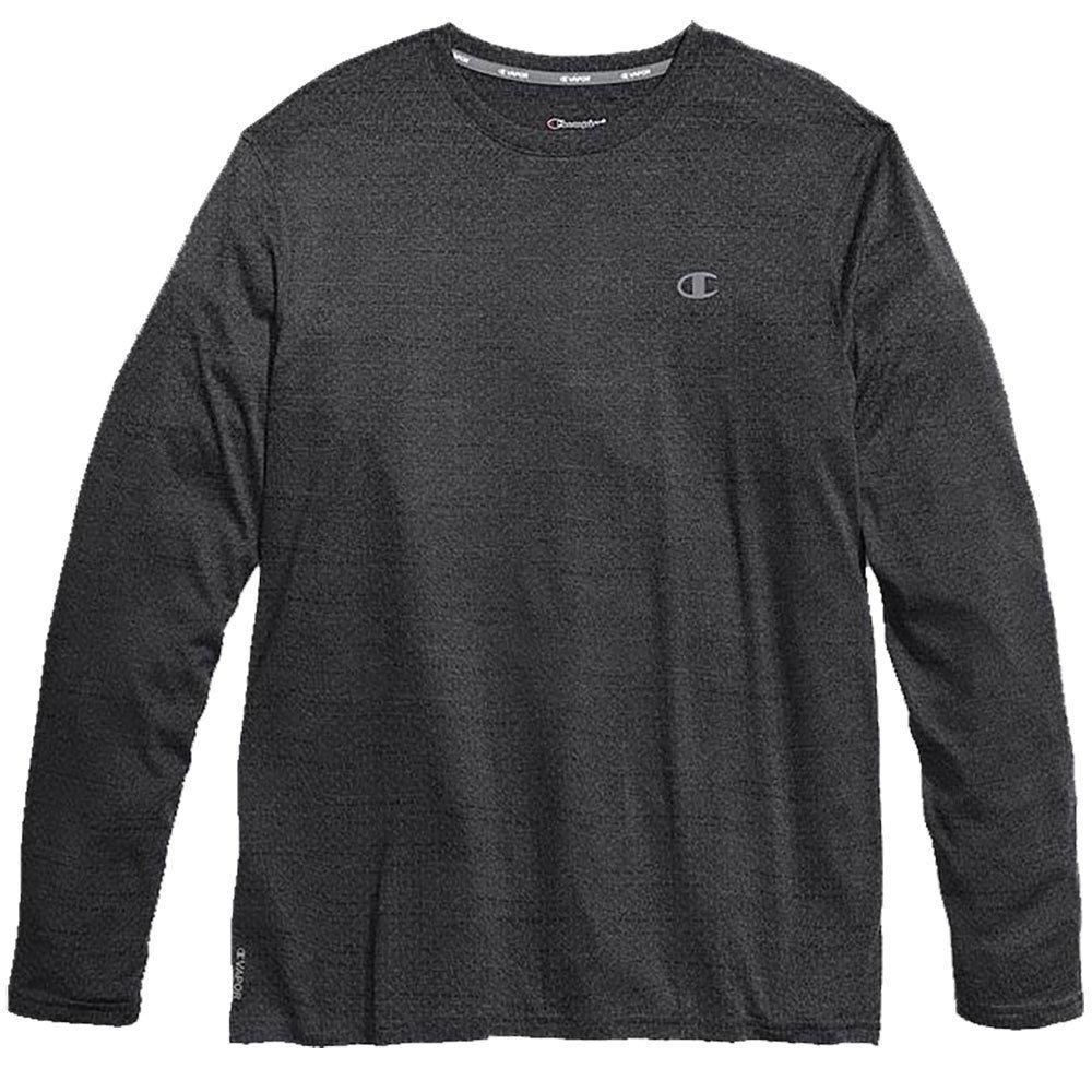 Champion Men's Double Dry Mesh-Texture Long-Sleeve Tee - Black, XL