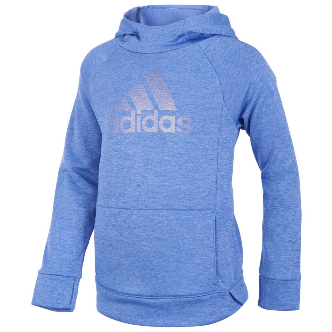 Adidas Little Girls' Push It Pullover Hoodie - Purple, 4