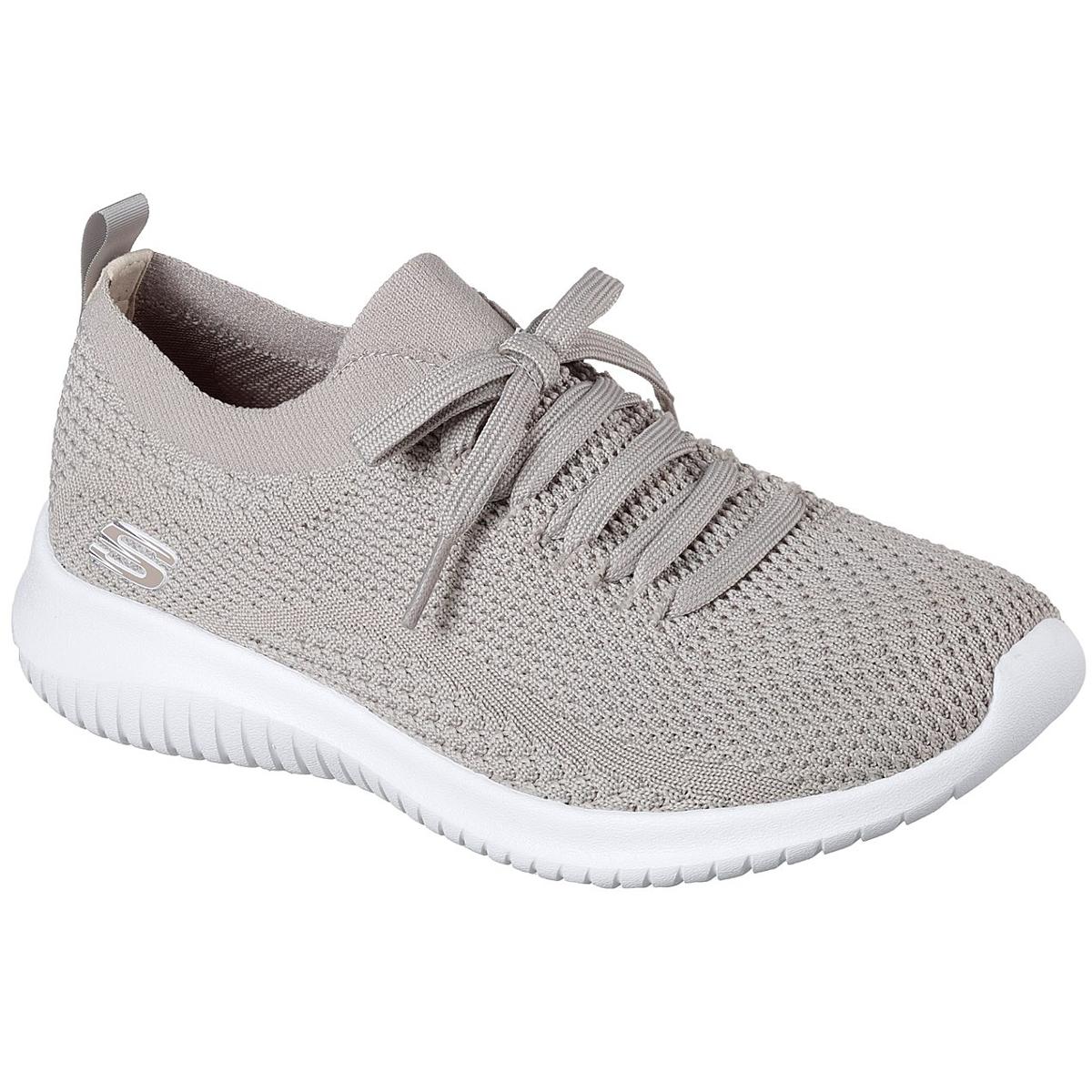 """Skechers Women's Ultra Flex A """" Statements Sneakers - Brown, 9"""