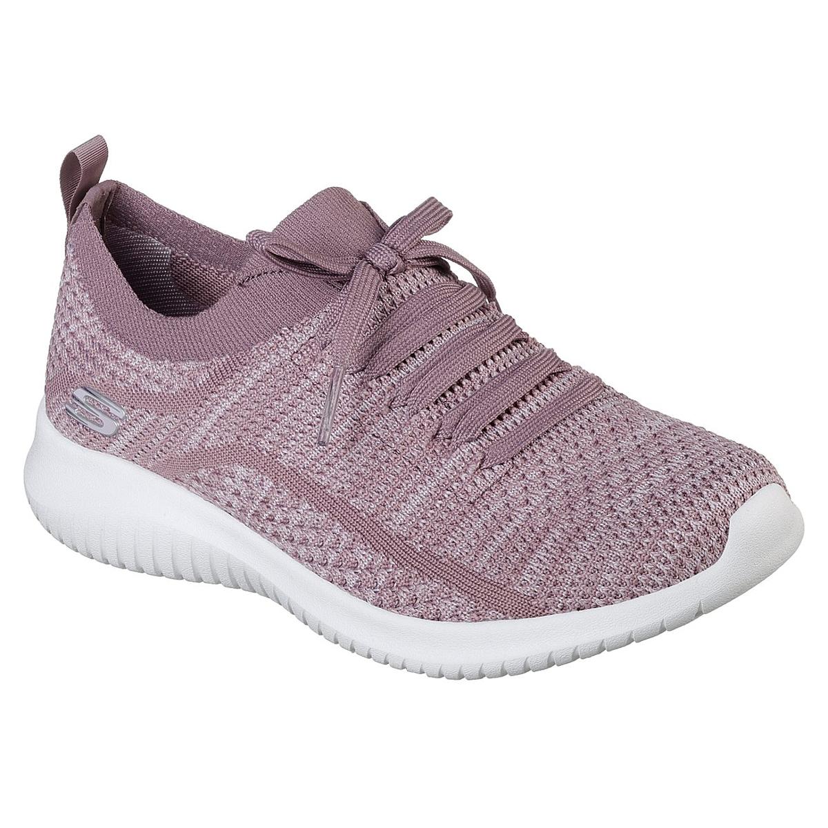 """Skechers Women's Ultra Flex A """" Statements Sneakers - Purple, 7"""