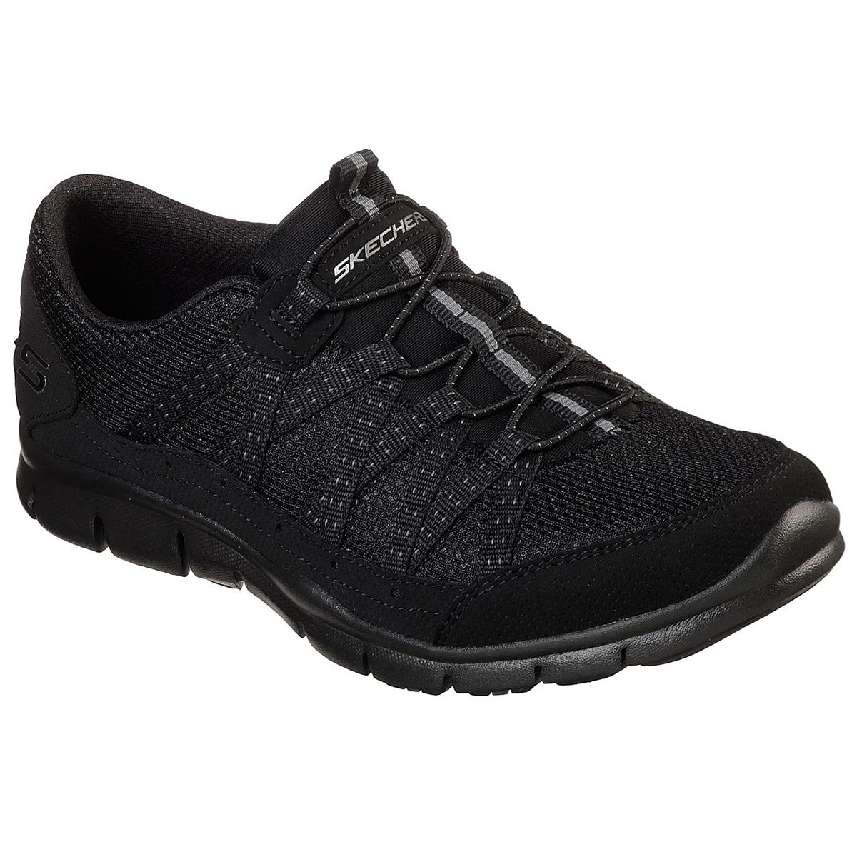 """Skechers Women's Gratis A """" Strolling Sneakers - Black, 6"""