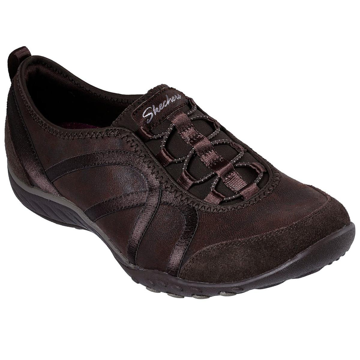Skechers Women's Relaxed Fit: Breathe Easy - Flawless Look Sneakers - Brown, 8