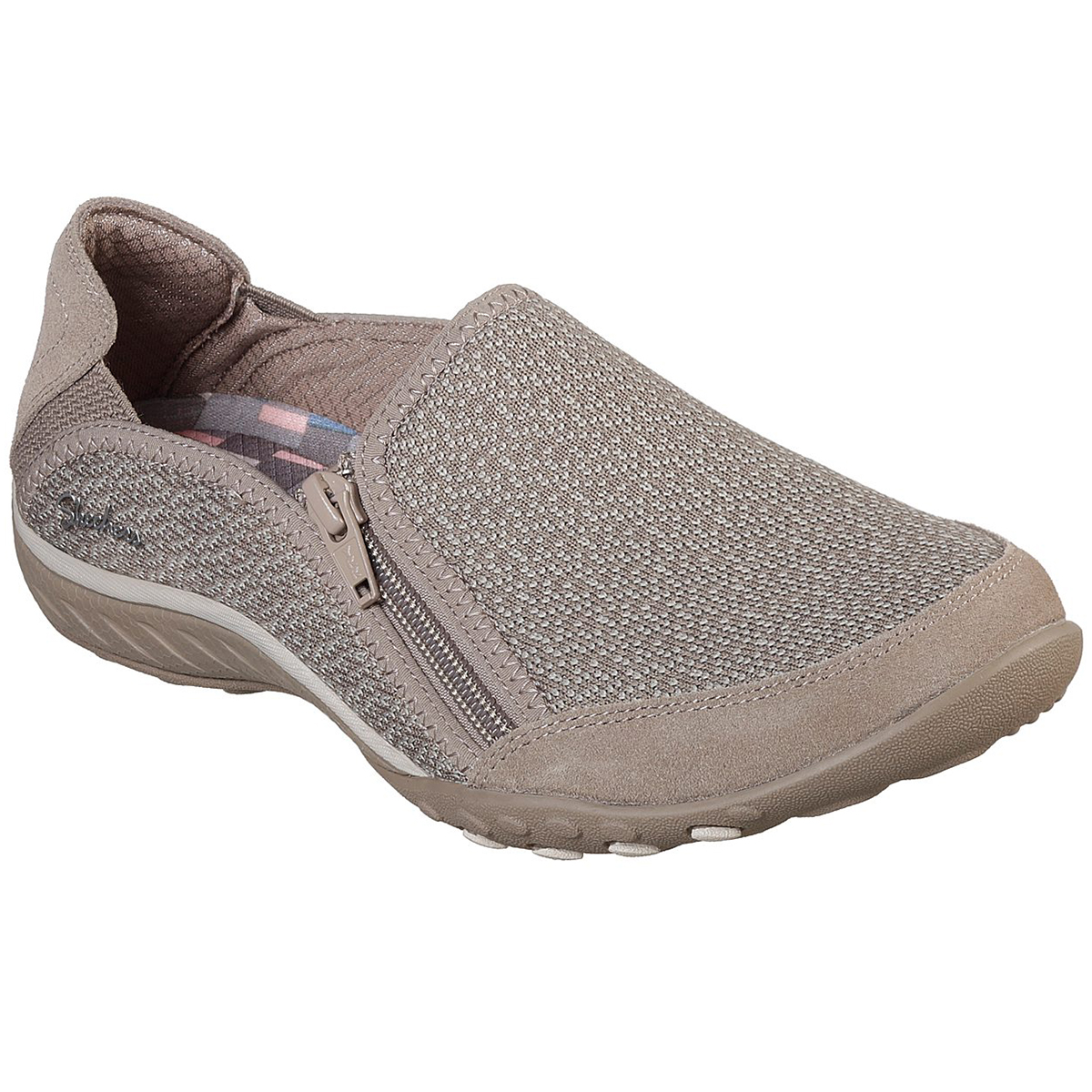 Skechers Women's Relaxed Fit: Breathe Easy - Quiet-Tude Sneakers - Brown, 6.5