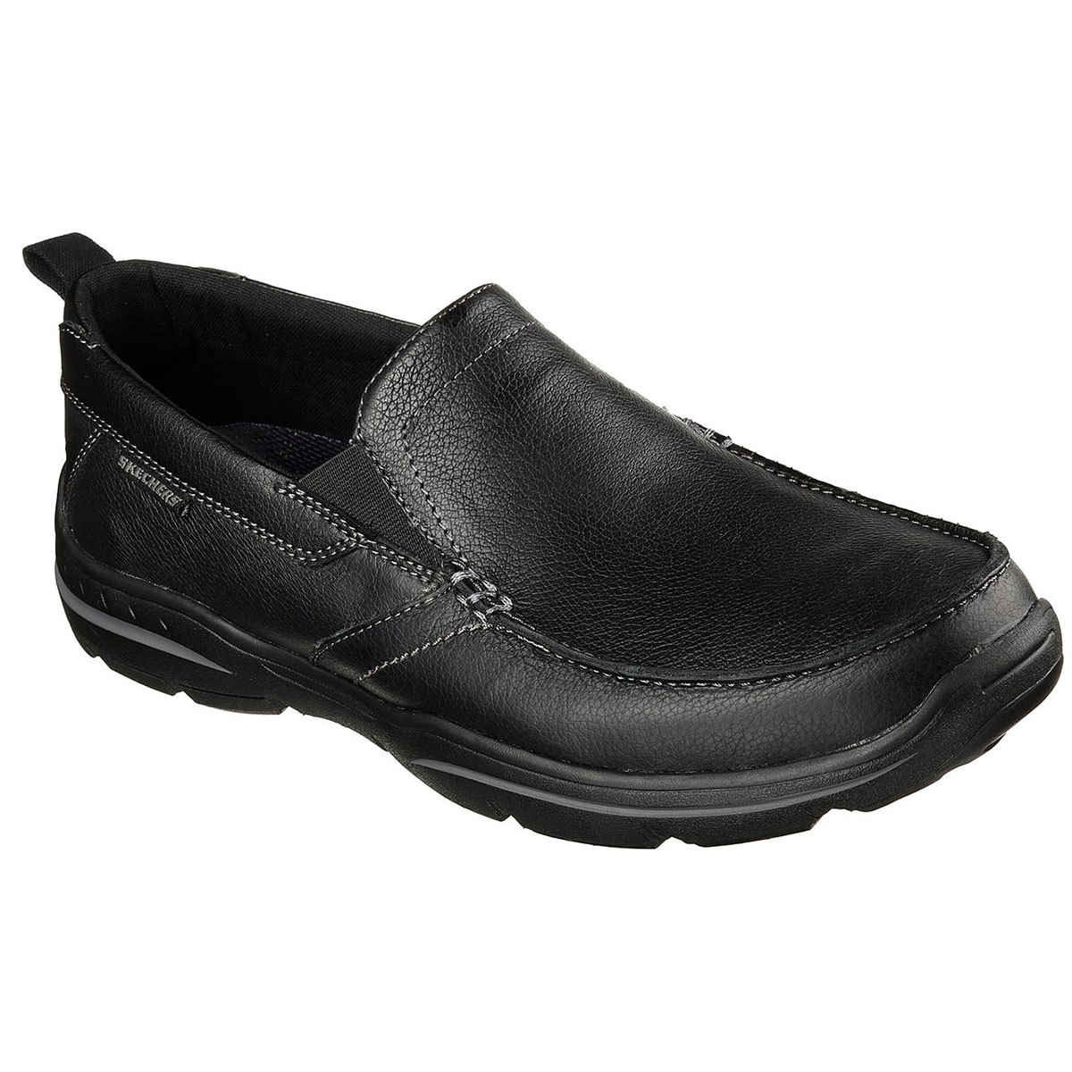 "Skechers Men's Relaxed Fit: Harper A "" Forde Casual Slip-On Shoes - Black, 9.5"
