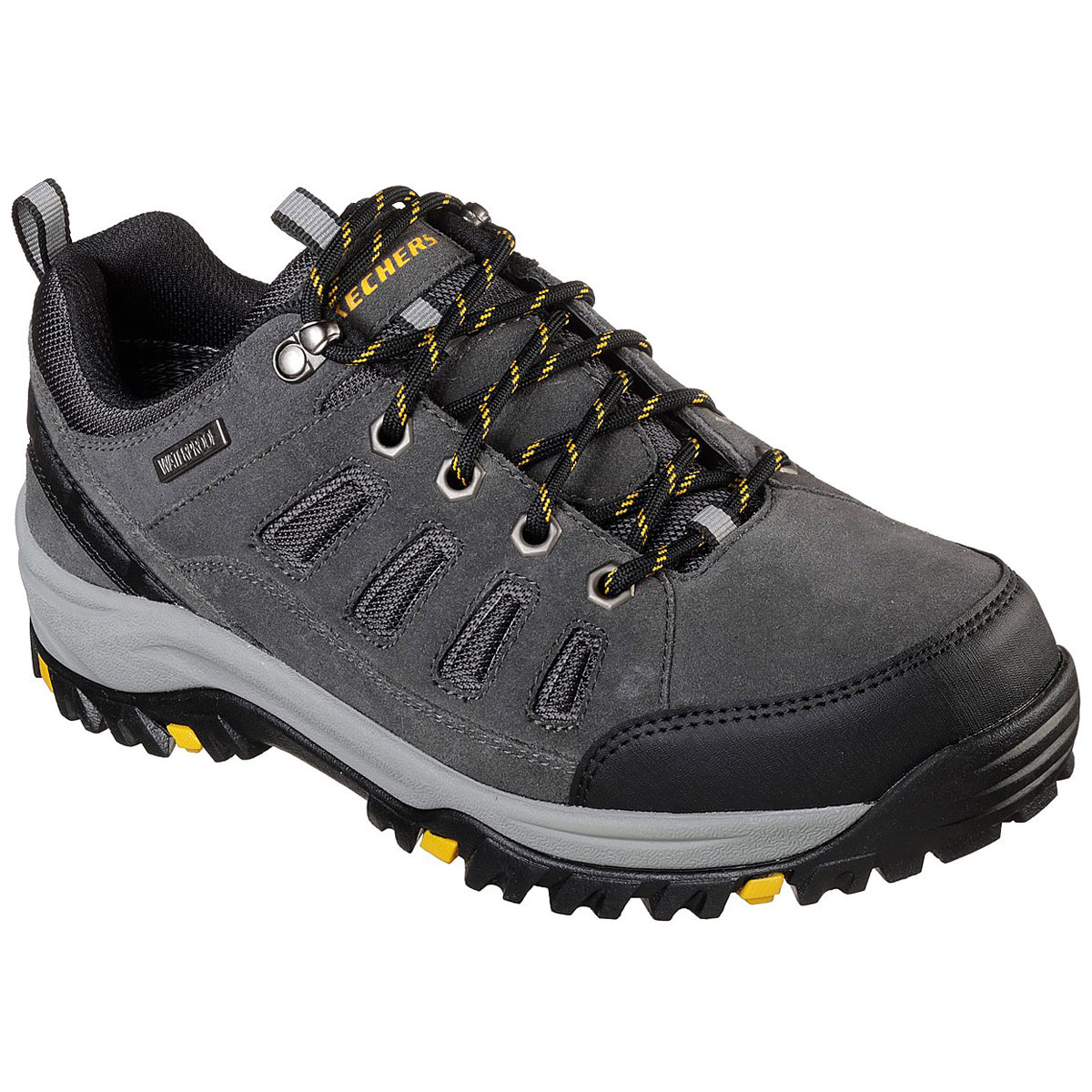 "Skechers Men's Relaxed Fit: Relment A "" Sonego Waterproof Low Hiking Shoes - Black, 9.5"